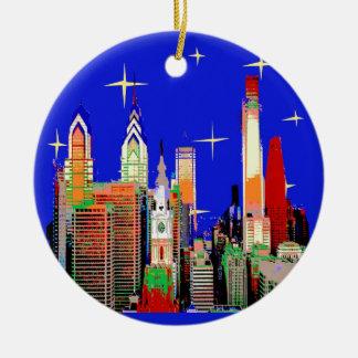 Starry Night Philadelphia, Abstract Sky with Stars Christmas Ornament