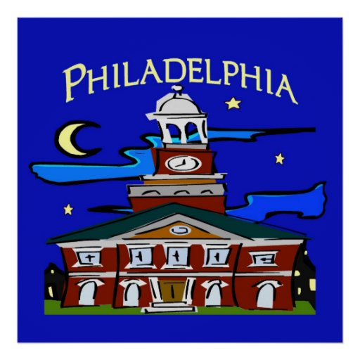 Starry Night Philly Moon Poster