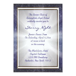 """Starry Night Prom Invitations 5"""" X 7"""" Invitation Card"""