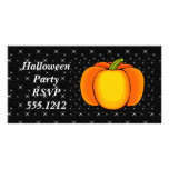 Starry Night Pumpkin Personalized Photo Card