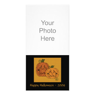 Starry Night Pumpkins Photo Card