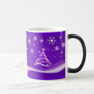 Starry night - purple morphing mug
