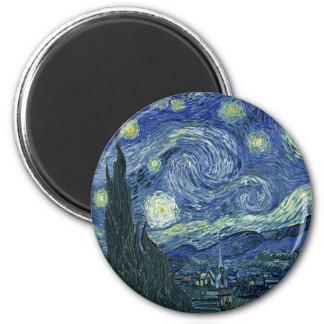 Starry Night Refrigerator Magnet