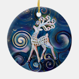 Starry Night Reindeer Christmas Ornament