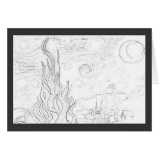 Starry Night Remake-Vincent van Gogh Greeting Card