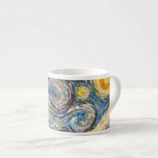 Starry Night repainted after Van Gogh Espresso Mug 6 Oz Ceramic Espresso Cup