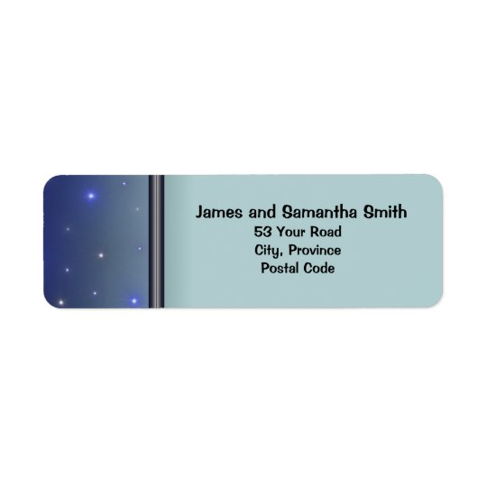 Starry Night Return Address Labels