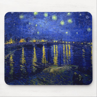 Starry Night Rhone by Van Gogh Mouse Pad