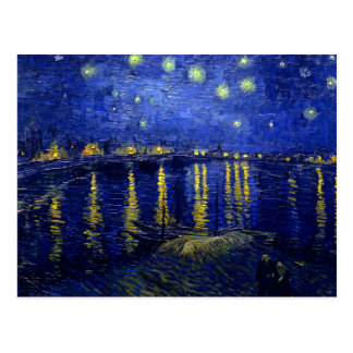Starry Night Rhone by Van Gogh Postcard