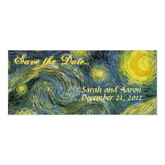 Starry Night Save the Date 10 Cm X 24 Cm Invitation Card