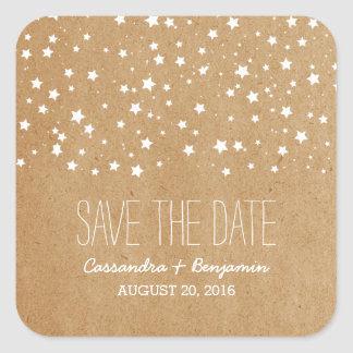 Starry Night Save the Date Stickers