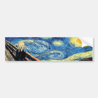 Starry Night Scream Bumper Sticker