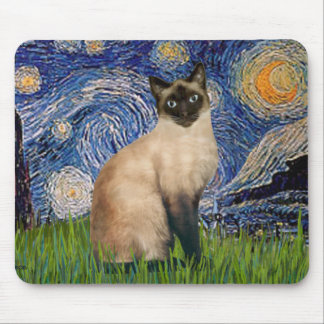 Starry Night - Seal Point Siamese cat Mouse Mat