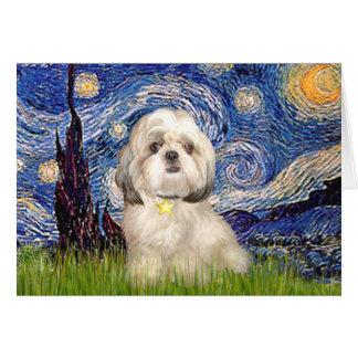 Starry Night - Shih Tzu (Y) Card