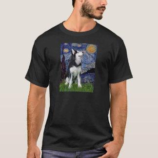 Starry Night - Siberian Husky #1 T-Shirt