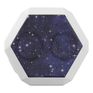 Starry Night Sky Grid White Boombot Rex Bluetooth Speaker