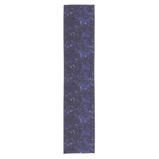 Starry Night Sky Grid Short Table Runner