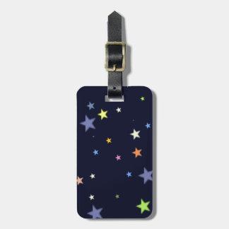 starry night sky luggage tag