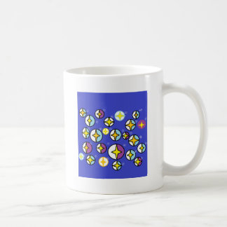 Starry Night Sky Orbs Basic White Mug