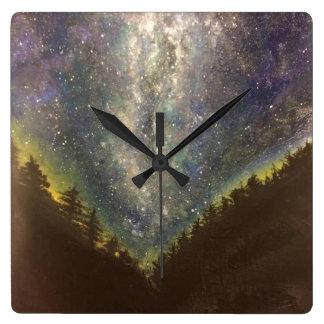Starry Night Square Clock