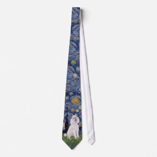 Starry Night - Standard Poodle (W) Tie