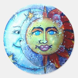 Starry Night Sun and Moon Sticker