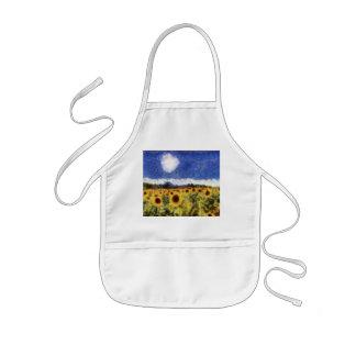 Starry Night Sunflowers Kids Apron
