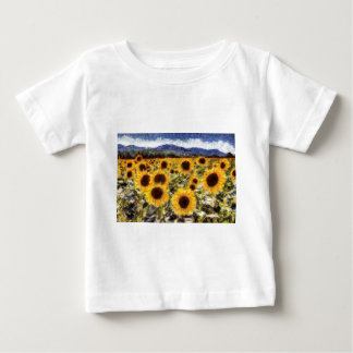Starry Night Sunflowers Van Gogh Baby T-Shirt