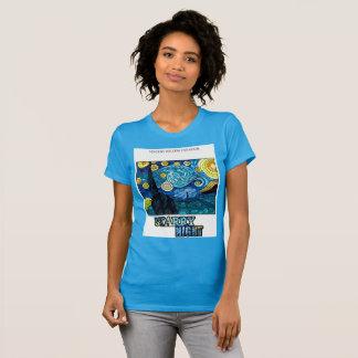 Starry Night T-shirt (White Background)