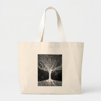 Starry Night Tree of Life Canvas Bags