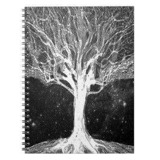 Starry Night Tree of Life Spiral Notebook