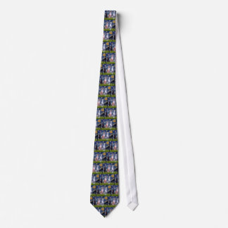 Starry Night - Two Whippets Tie