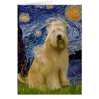 Starry Night (V) - Wheaten Terrier Card