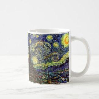 Starry Night, Van Gogh Basic White Mug