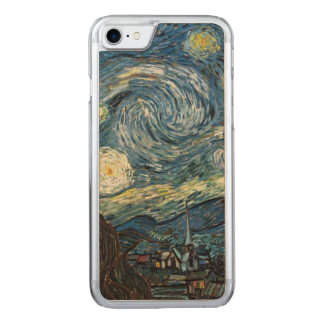 Starry Night Van Gogh Carved iPhone 7 Case