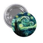 Starry Night Van Gogh Fractal Art Button