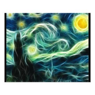 Starry Night Van Gogh Fractal Art Full Color Flyer