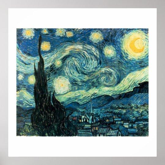Starry Night Van Gogh Poster (High Quality)