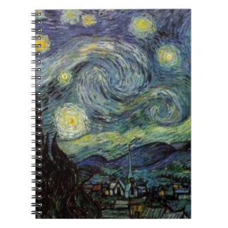 Starry Night - van Gogh Spiral Notebook