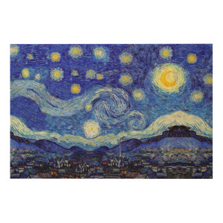 Starry Night Van Gogh Wood Canvas