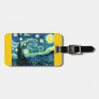 Starry Night vinatge art luggage Tags For Luggage