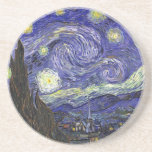 Starry Night, Vincent Van Gogh. Drink Coasters
