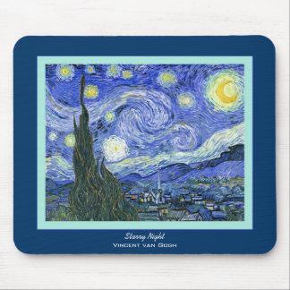 Starry Night Vincent van Gogh Fine Art Mousepad