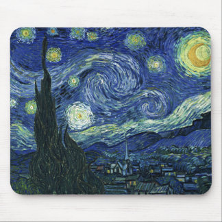 Starry Night Vincent van Gogh Fine Art Painting Mouse Mat