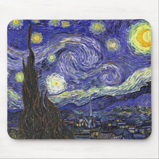Starry Night, Vincent Van Gogh. Mouse Pads