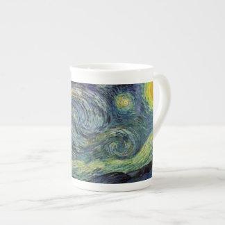 Starry Night, Vincent Van Gogh. Bone China Mug