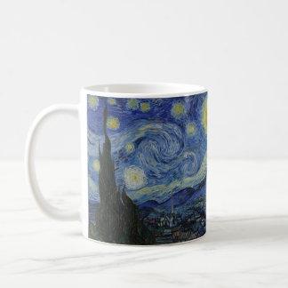 Starry Night Vincent van Gogh Painting Basic White Mug