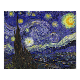Starry Night, Vincent Van Gogh. Poster