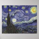 Starry Night - Vincent van Gogh Poster