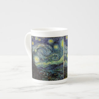 Starry Night, Vincent Van Gogh. Bone China Mugs
